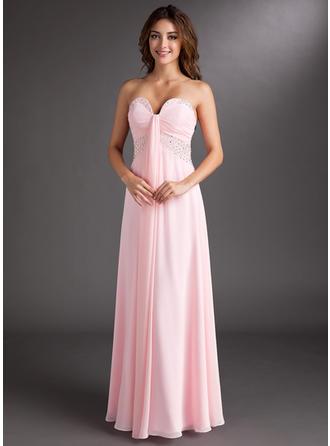 A-Line/Princess Prom Dresses Fashion Floor-Length Sweetheart Sleeveless