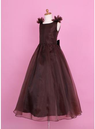 long chiffon flower girl dresses