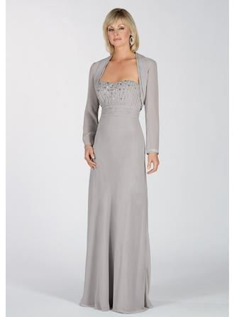 Floor-Length Mother of the Bride Dresses With Pleated