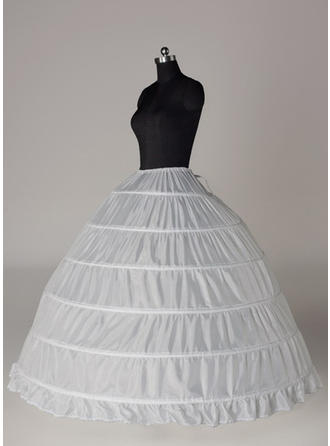 Bustle Floor-length Tulle Netting/Satin Full Gown Slip 4 Tiers Petticoats (037190834)