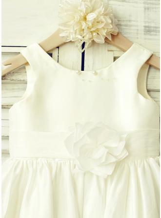short sleeve ivory flower girl dresses