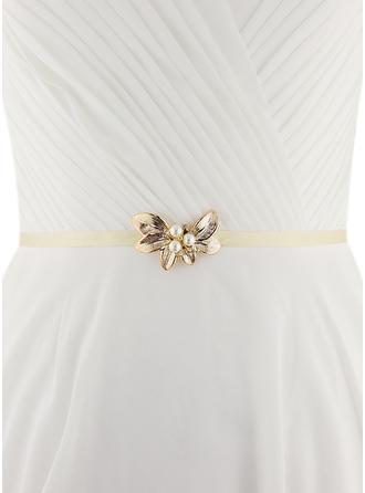 Women Satin With Imitation Pearls Sash Unique Sashes & Belts