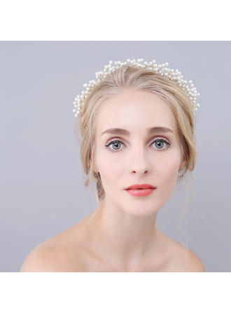 "Tiaras Wedding/Special Occasion Imitation Pearls 6.69""(Approx.17cm) 6.3""(Approx.16cm) Headpieces"