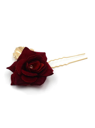 Romantic Alloy/Cloth Hairpins (Sold in single piece) (042096417)