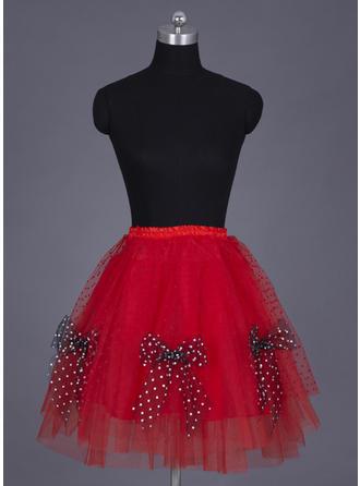 Petticoats Knee-length Nylon/Tulle Netting Full Gown Slip/Flower Girl Slip/Half Slip/Short Flare Slip 4 Tiers Petticoats
