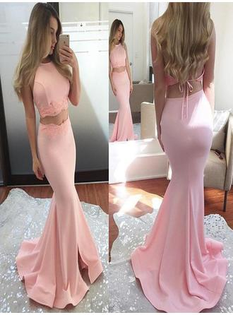 long violet prom dresses two piece