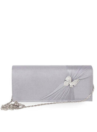 Clutches Wedding/Ceremony & Party Silk Magnetic Closure Fashional Clutches & Evening Bags