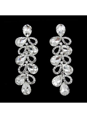 Earrings Alloy/Rhinestones Pierced Ladies' Exquisite Wedding & Party Jewelry