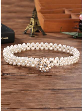 Women Imitation Pearls With Rhinestones Belt Beautiful Sashes & Belts