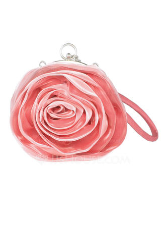 Wristlets/Bridal Purse Ceremony & Party/Casual & Shopping Satin Clip Closure Fashional Clutches & Evening Bags (012183907)