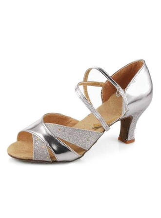 Women's Latin Heels Sandals Leatherette Dance Shoes