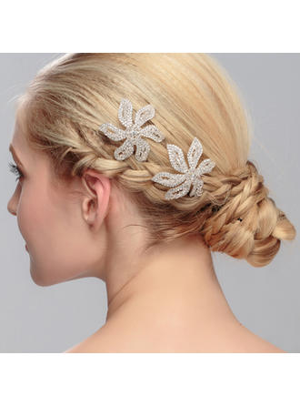 "Hairpins Wedding/Special Occasion/Party Crystal 3.54""(Approx.9cm) 2.17""(Approx.5.5cm) Headpieces"