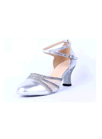 Women's Ballroom Sandals Leatherette With Hollow-out Dance Shoes