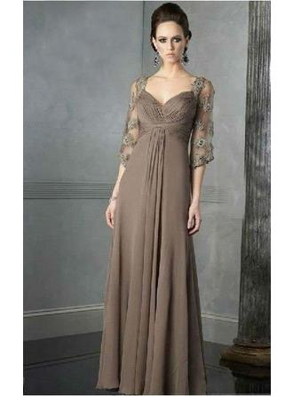 Floor-Length Mother of the Bride Dresses With Lace