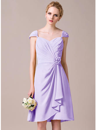 Bridesmaid Dresses Sweetheart Chiffon A-Line/Princess Sleeveless Knee-Length