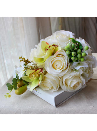 "Bridal Bouquets Round Wedding 13.78""(Approx.35cm) 9.49""(Approx.24cm) Wedding Flowers"