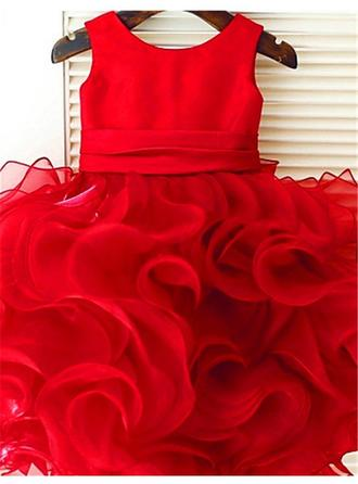 red and gold flower girl dresses