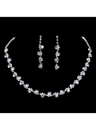 Jewelry Sets Alloy/Rhinestones Lobster Clasp Pierced Ladies' Wedding & Party Jewelry (011166742)