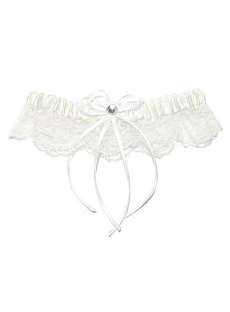 Garters Women Wedding/Special Occasion Satin/Lace With Rhinestone Garter