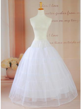 Petticoats Floor-length Taffeta Ball Gown Slip/Full Gown Slip 2 Tiers Petticoats