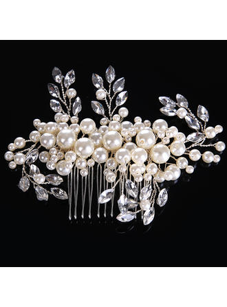 """Combs & Barrettes Wedding/Special Occasion Alloy/Imitation Pearls 5.12""""(Approx.13cm) 3.15""""(Approx.8cm) Headpieces"""