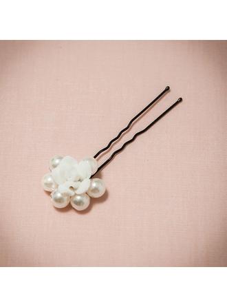 Maravilloso/Precioso La perla de faux/Arcilla del polímero Horquillas (Se venden en una sola pieza)