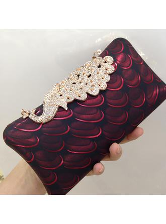 "Clutches/Satchel Wedding/Ceremony & Party Crystal/ Rhinestone/PU Charming 7.87""(Approx.20cm) Clutches & Evening Bags"