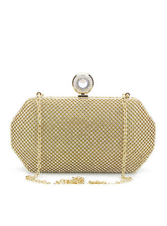 Clutches/Bridal Purse Wedding/Ceremony & Party Crystal/ Rhinestone/Tulle Snap Closure Elegant Clutches & Evening Bags (012187643)