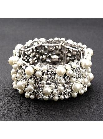 Bracelets Alloy/Rhinestones/Imitation Pearls Ladies' Fashional Bangles Wedding & Party Jewelry