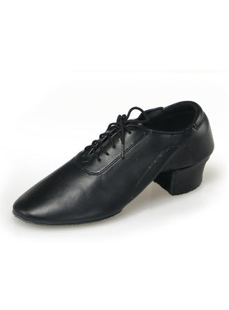 Men's Practice Pumps Sneakers Leatherette With T-Strap Dance Shoes