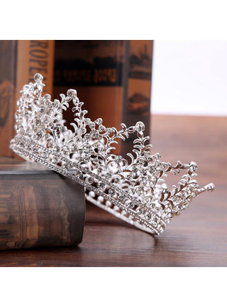 Glamourous Rhinestone/Alloy Tiaras (Sold in single piece) (042130002)