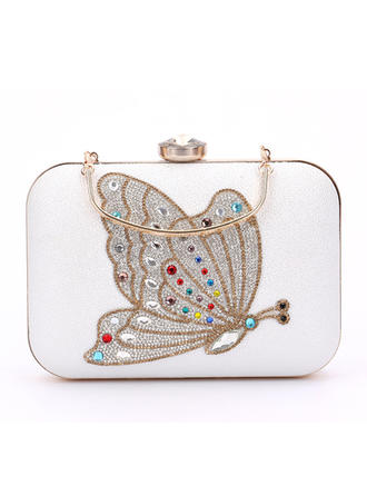 Clutches Wedding/Ceremony & Party PU Clip Closure Elegant Clutches & Evening Bags