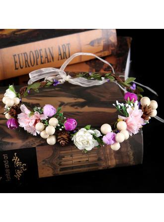 Señoras Elegante Flores de seda Diademas