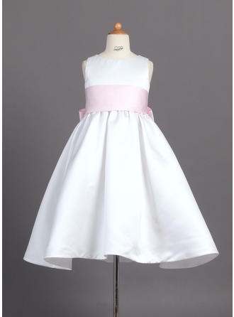 Ball Gown Ankle-length Satin - Simple Flower Girl Dresses