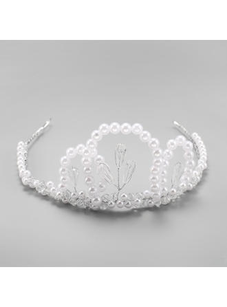 "Tiaras Wedding Alloy/Imitation Pearls 13.58""(Approx.34.5cm) 2.76""(Approx.7cm) Headpieces"