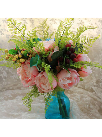 """Bridal Bouquets Free-Form Wedding Satin 11.02"""" (Approx.28cm) Wedding Flowers"""