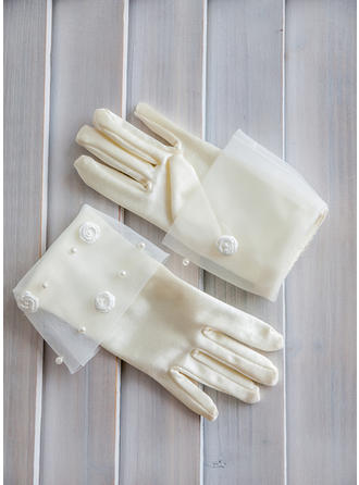 Elastic Satin Children's Gloves Flower Girl Gloves Cotton Fingertips Gloves