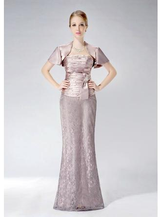 Floor-Length Mother of the Bride Dresses With Sash Pleated