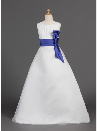Organza/Satin A-Line/Princess Sash 2019 New Flower Girl Dresses