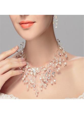 Элегантные Стразы/Перлы ложный с горный хрусталь/Перлы ложный женские ожерелья