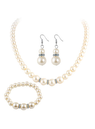 Klassisk stil Fauxen Pärla Damer' Smycken Sets