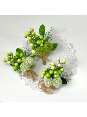 "Flower Sets Wedding/Party/Casual Artificial Silk 4.72""(Approx.12cm) 3.15"" (Approx.8cm) Wedding Flowers"