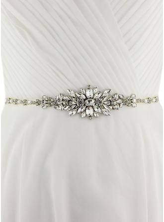 Women Satin With Crystal Sash Beautiful Sashes & Belts
