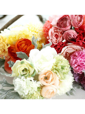 "Bridal Bouquets Round Wedding/Party/Casual Satin 10.63""(Approx.27cm) Wedding Flowers"