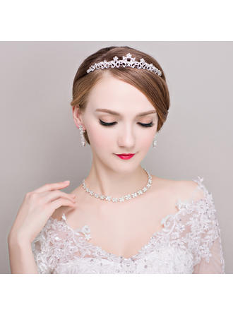 Jewelry Sets Alloy/Rhinestones Earclip Ladies' Beautiful Wedding & Party Jewelry