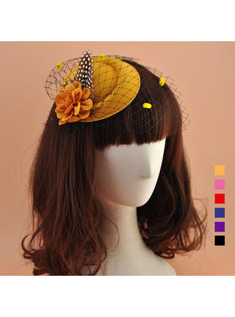 Polyester With Silk Flower Fascinators Elegant Ladies' Hats