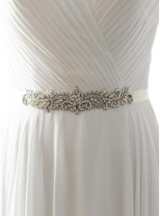 Women Satin With Rhinestones Sash Elegant/Gorgeous Sashes & Belts