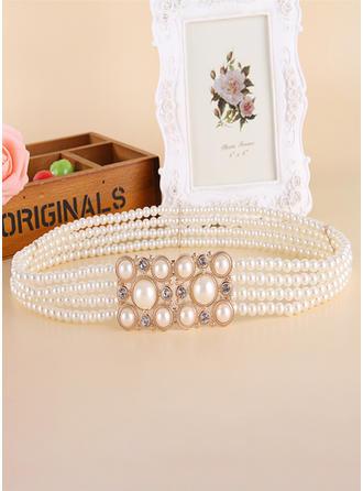 Prächtig Faux-Perlen Schleifenbänder/Stoffgürtel mit Strasssteine