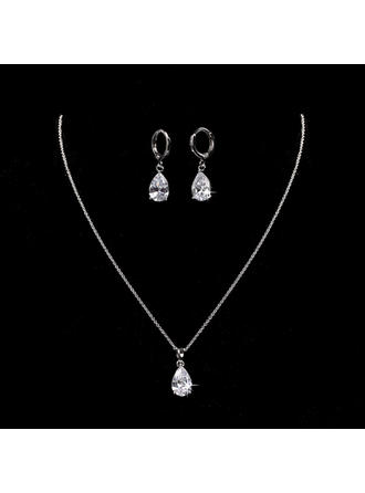 Jewelry Sets Alloy/Zircon Cubic Zirconia Lobster Clasp Ladies' Wedding & Party Jewelry (011168202)