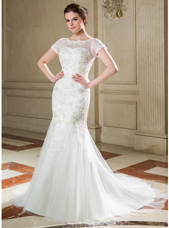 Tulle Lace Trumpet/Mermaid Newest Sequins Wedding Dresses